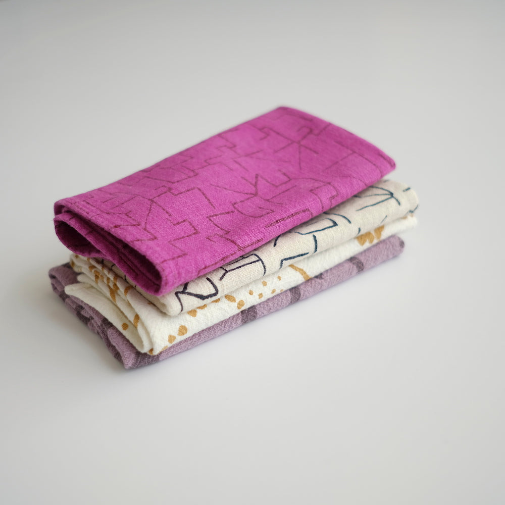 Everyday Napkins - Maze - Maroon/Fuchsia