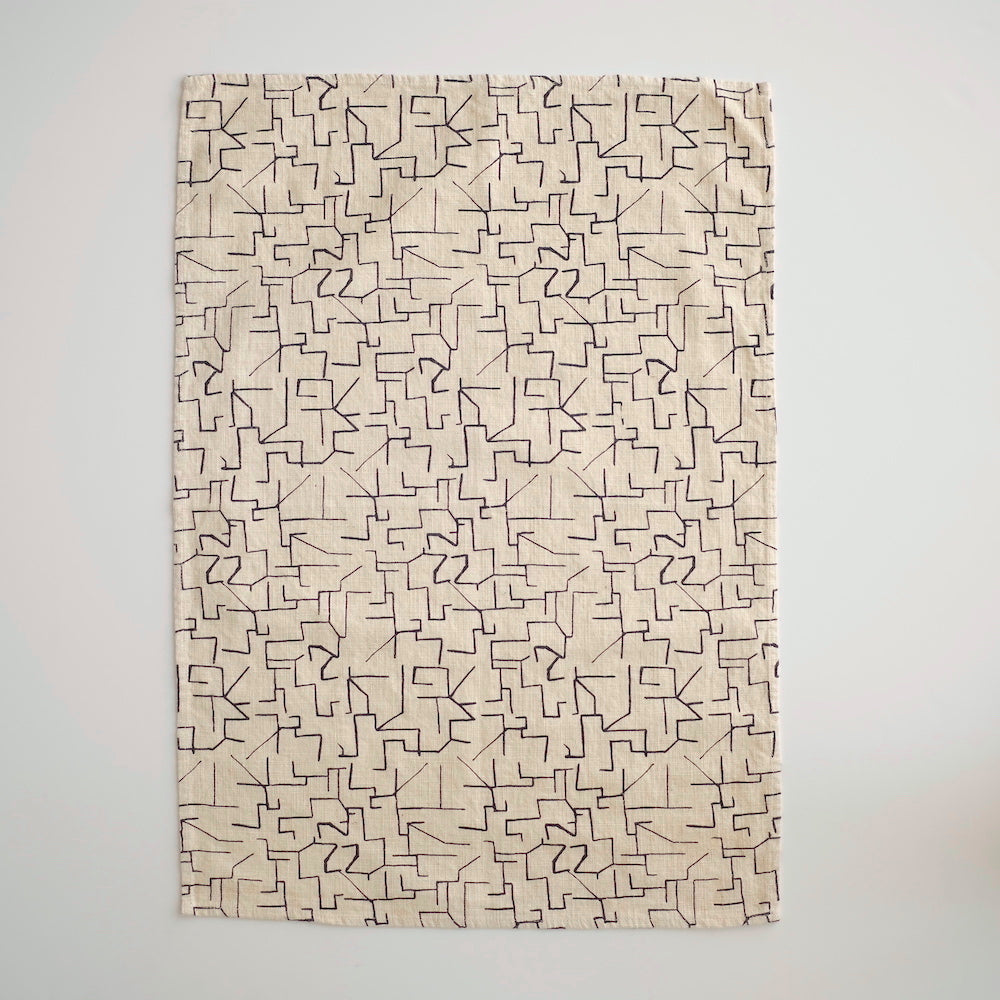 Tea Towel - Maze - Midnight
