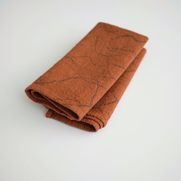 Everyday Napkins - Weave - Faded black - Burnt sienna