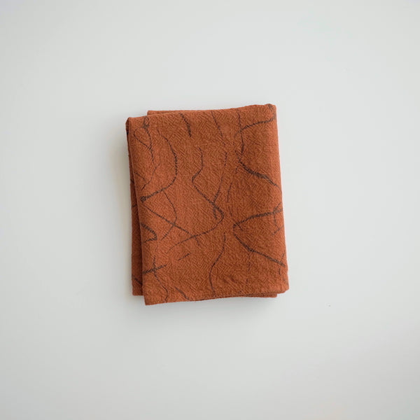 Tea Towel - Weave - faded black/burnt sienna