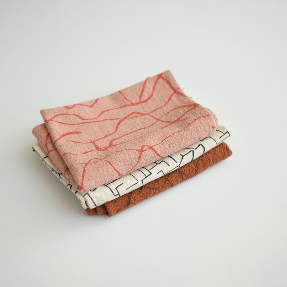 Tea Towel - Weave - terra cotta/dusty coral