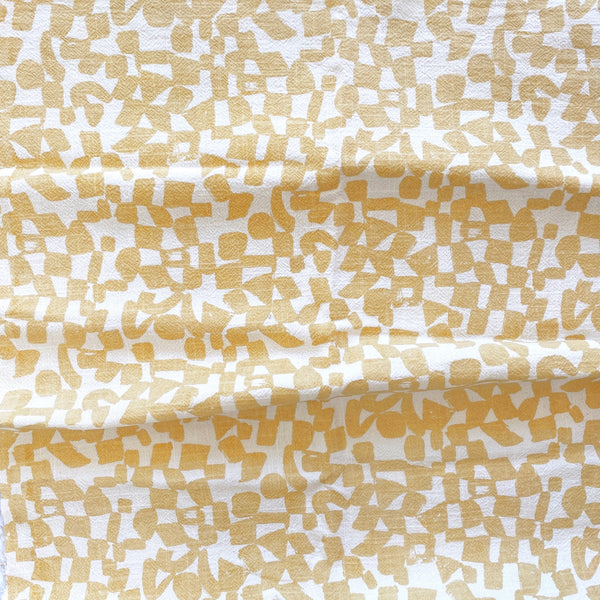 CHECKS in VANILLA - Fabric by the yard