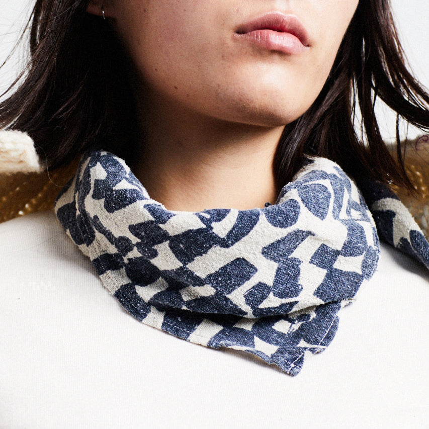 Over-dyed Scarf - Natural Midnight