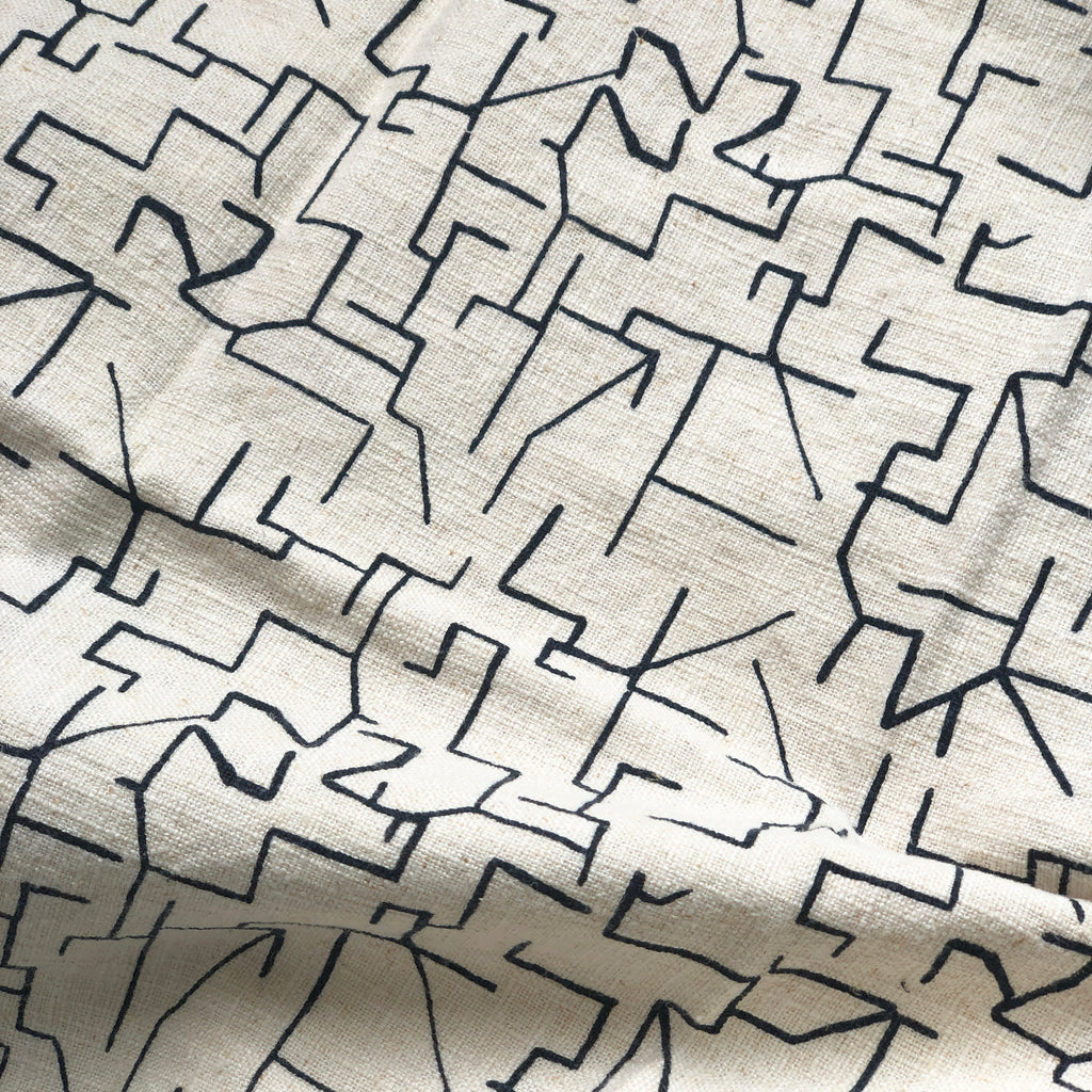 MAZE in MIDNIGHT - Fabric by the yard