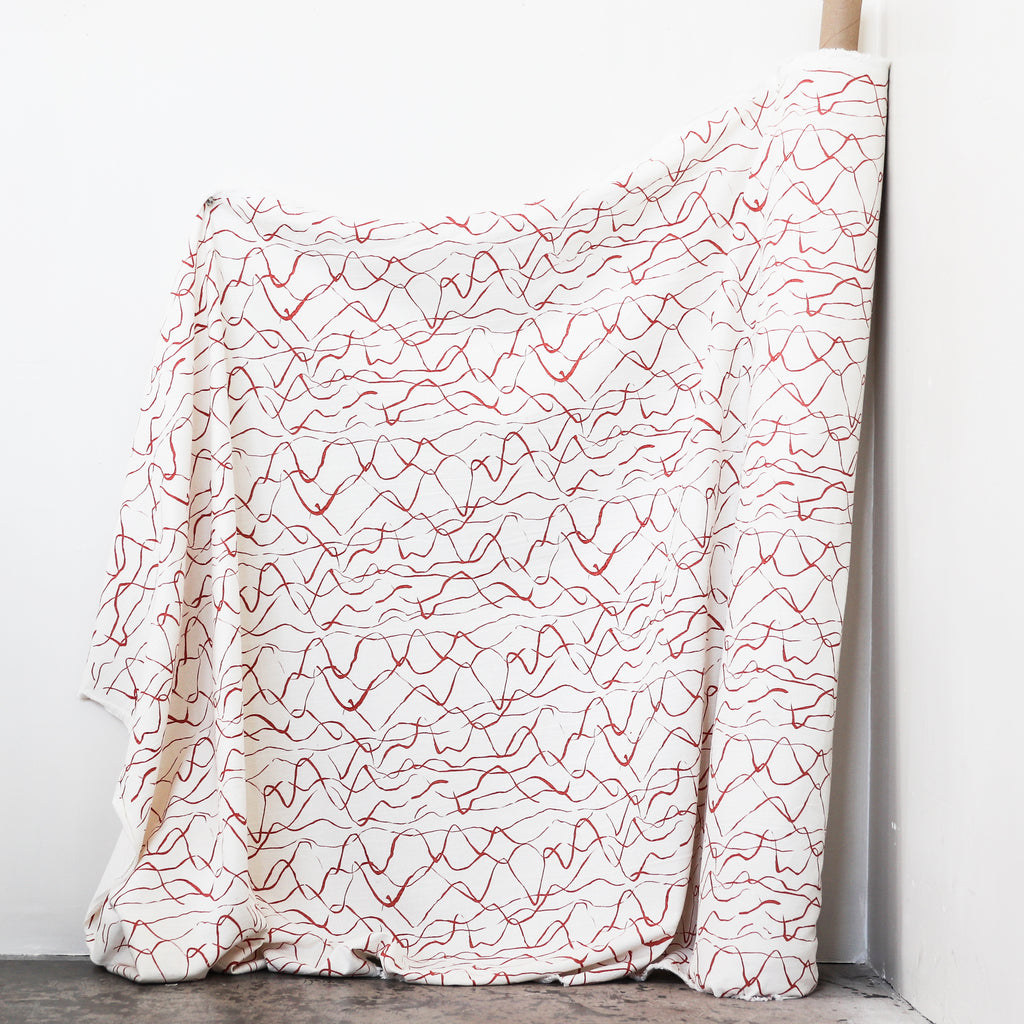 WEAVE in TERRA COTTA - Fabric by the yard