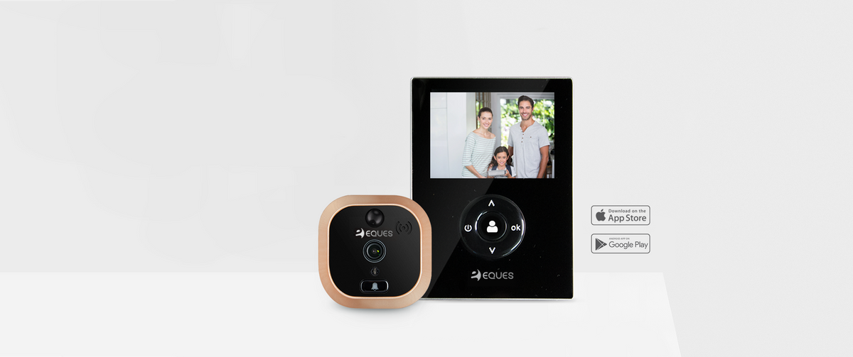 & Video Ring Doorbell u0026 Peephole Door Viewer for your Smart Phone