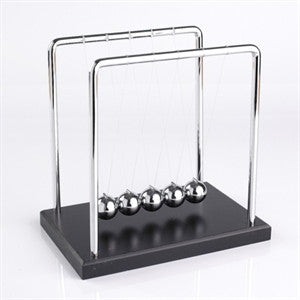 newtons cradle office decoration metal balls bounce swing gravity
