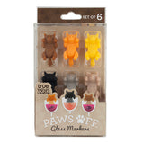 Paws Off Wine Glass Markers