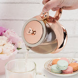 rose gold tea pot modern tea for two mothers day gift
