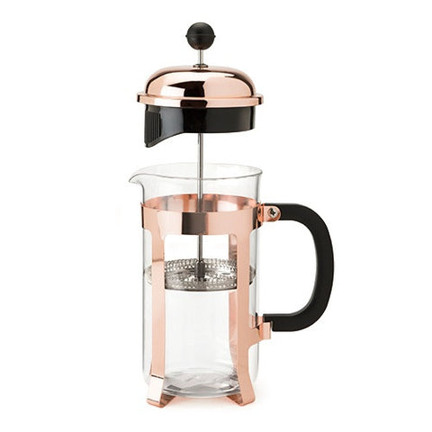 Rose gold french press tea coffee mothers day gift