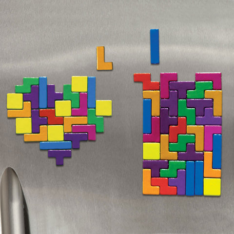 tetris colorful rainbow fridge magnets