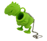 tea rex T-rex tea infuser green white background