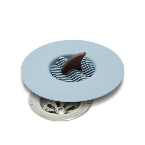 sinkfin sink cover food catcher shark silicone blue