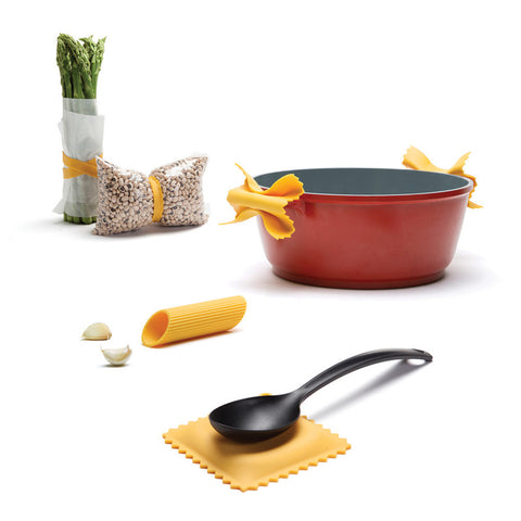 pasta spoon rest ravioli penne bowtie linguine garlic peeler elastics pot handle holders silicone kitchen accessories