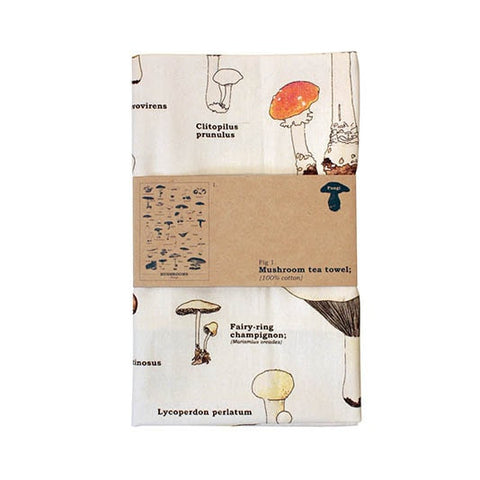 mushroom shroom tea towel different types of mushrooms