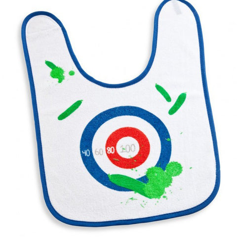 bib dartboard target practice zucchini game food catcher