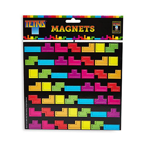 tetris colorful rainbow fridge magnets packaging package