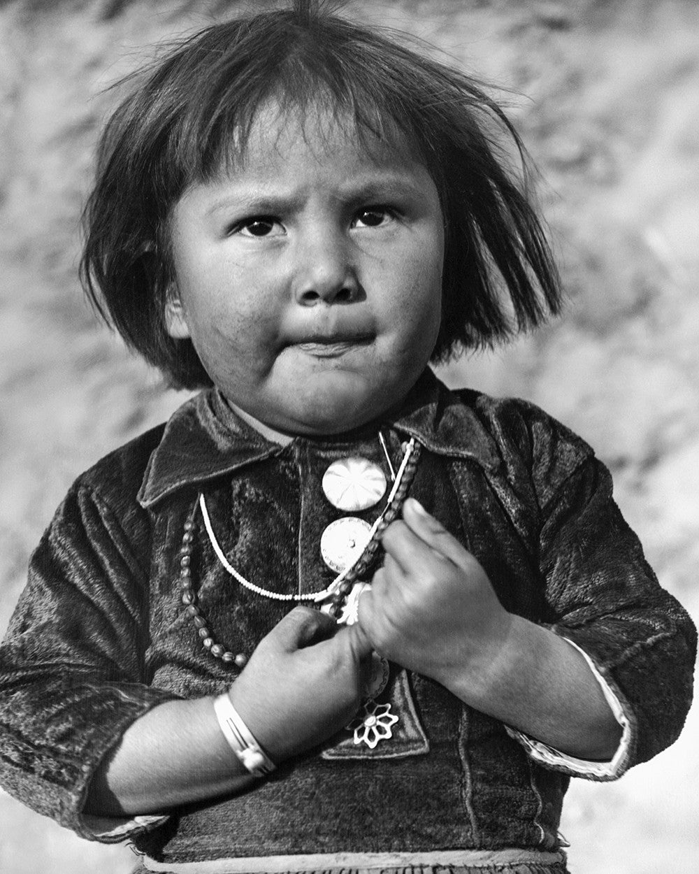 Black and White Vintage Photography by Senator Barry Goldwater (Hopi Child) - Art Prints and Wall Decor