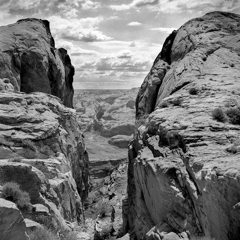 Black and White Vintage Photography by Senator Barry Goldwater (Hole in the Rock) - Art Prints and Wall Decor