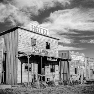 Black and White Vintage Photography by Senator Barry Goldwater (Old West Ghost Town) - Art Prints and Wall Decor