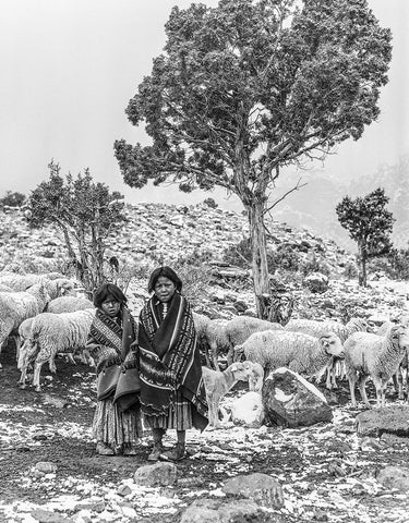 Black and White Vintage Photography by Senator Barry Goldwater (The Shepherdess) - Art Prints and Wall Decor