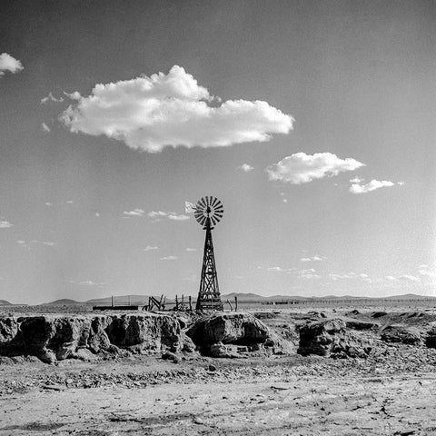 Black and White Vintage Photography by Senator Barry Goldwater (Windmill) - Art Prints and Wall Decor
