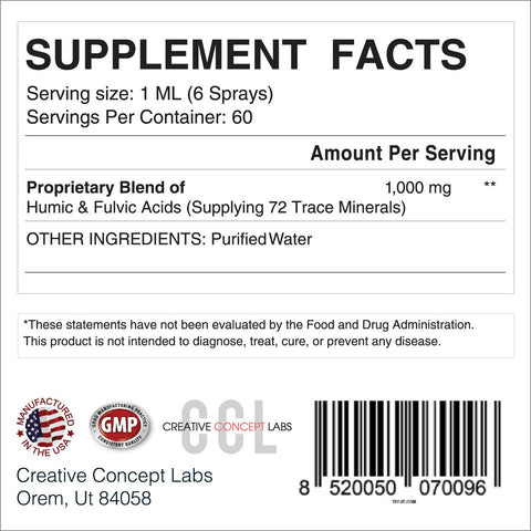 Image of CCL Advanced Fulvic Acid™ | Over 72 Trace Minerals and Nutrients