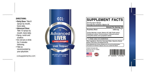 CCL Advanced Liver Extra Strength 2oz Spray