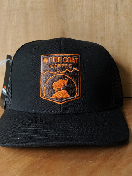 White Goat Trucker Hat
