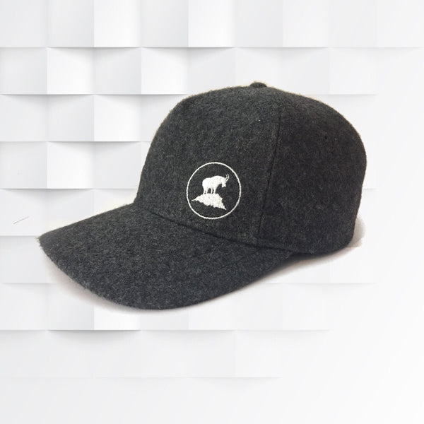White Goat Wool Trucker Hat