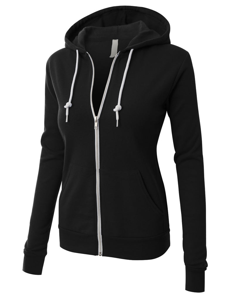 BELLA+CANVAS PREMIUM Womens Active Soft Fleece Zip Up Hoodie Jacket ... 8db7174c8