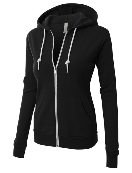 BELLA+CANVAS PREMIUM Womens Active Soft Fleece Zip Up Hoodie Jacket