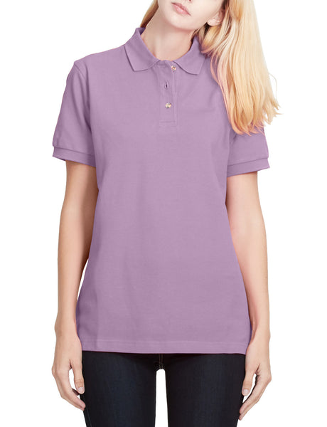 PORT AUTHORITY PREMIUM Womens Sports Short Sleeve Cotton Pique Polo Shirt