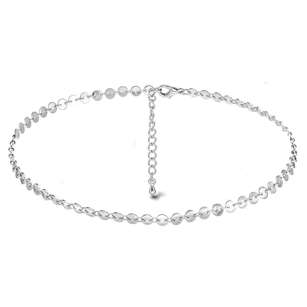 Coin-chella Silver Choker - Aldina Collection