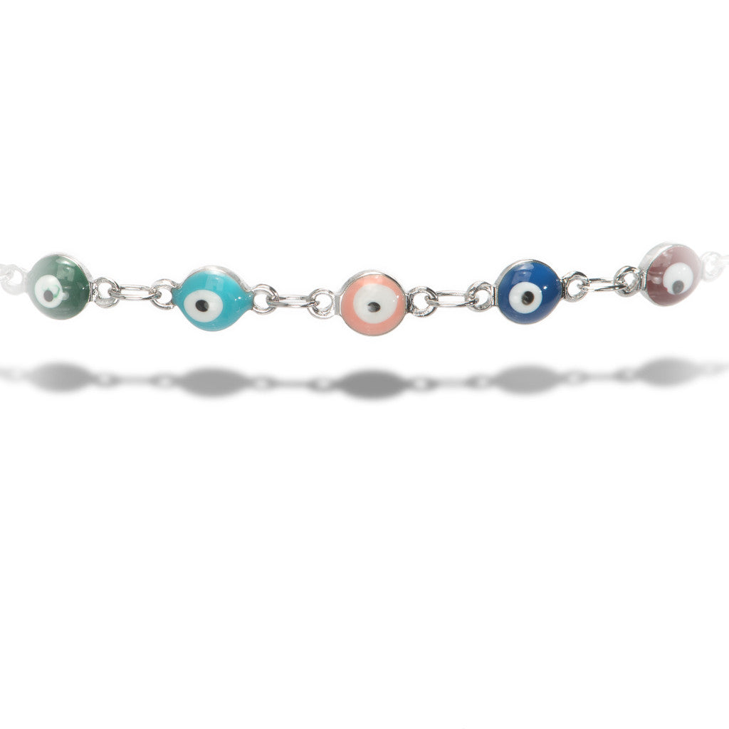 Evil Eye Silver Choker - Aldina Collection