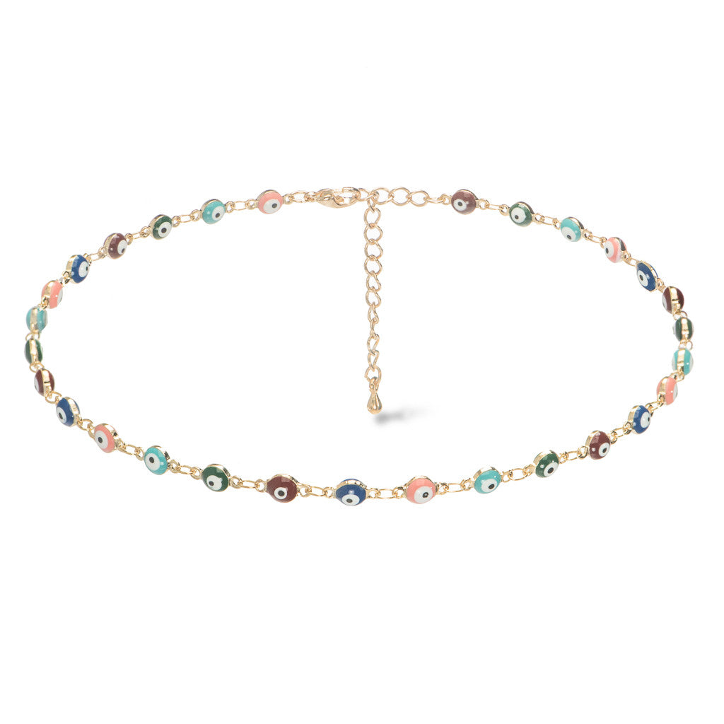Evil Eye Gold Choker - Aldina Collection