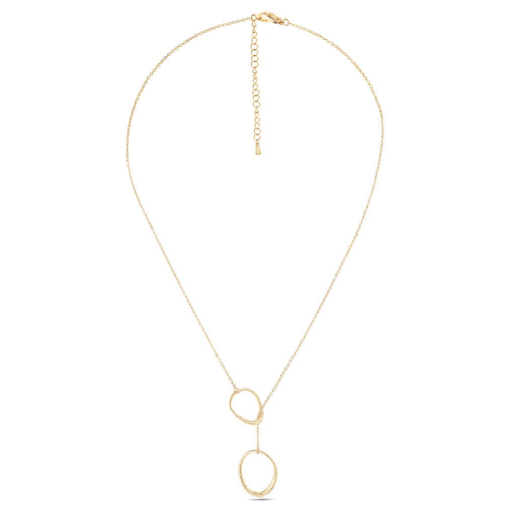 Deja Vu Gold Lariat Necklace - Aldina Collection