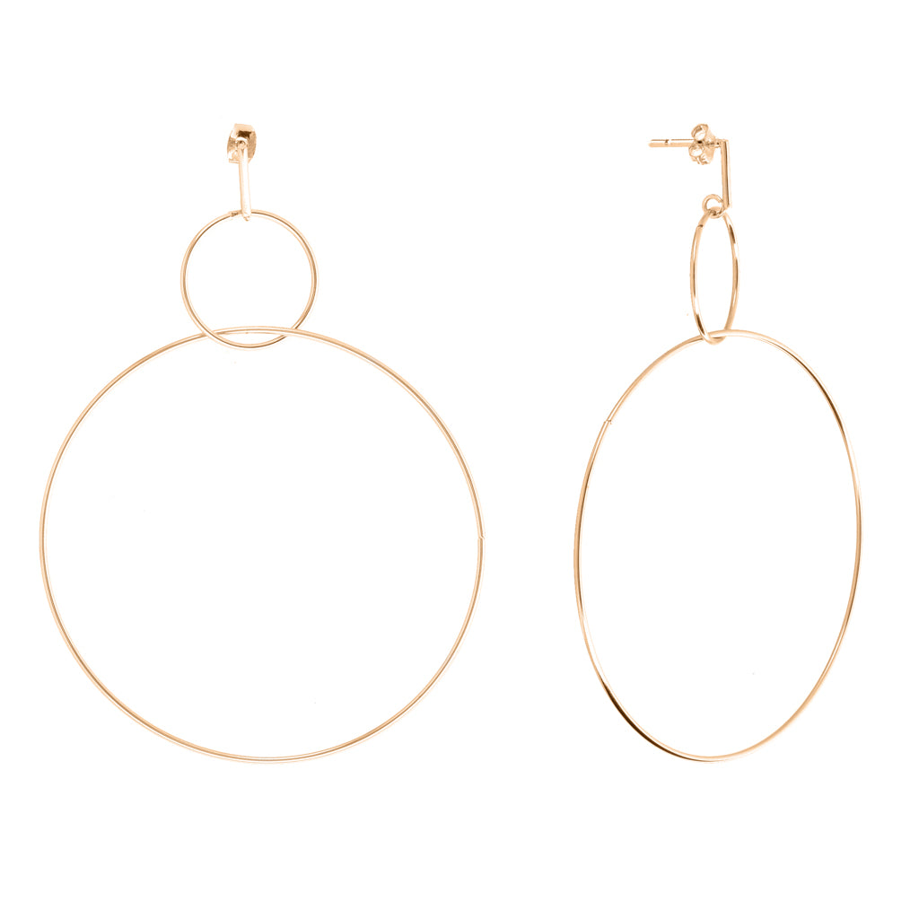 Evoca Gold Earrings - Aldina Collection