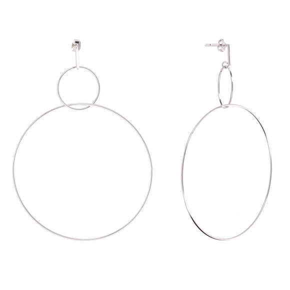 Evoca Silver Earrings - Aldina Collection