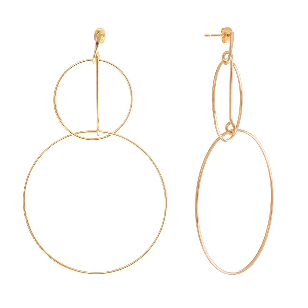 Zeta Gold Earrings - Aldina Collection