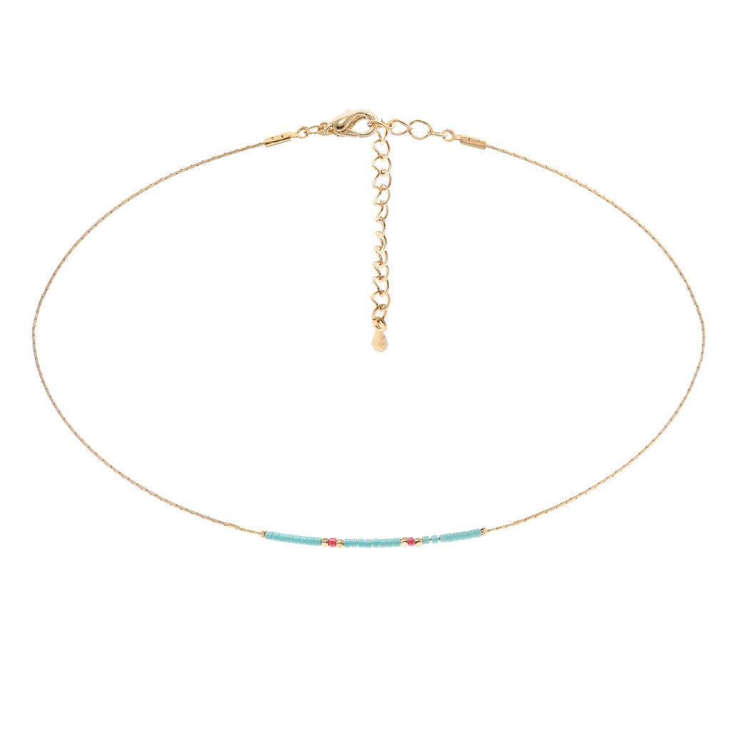 Marine Beaded Choker - Aldina Collection