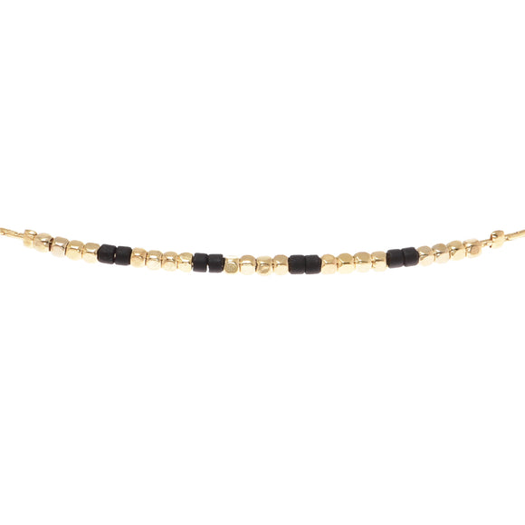 Carbon Beaded Choker - Aldina Collection