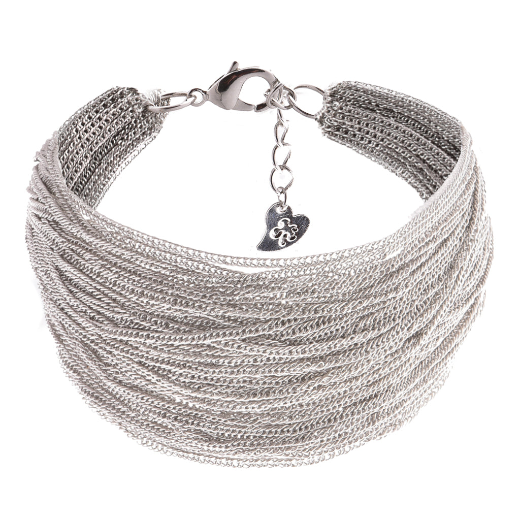 Karma Silver Bracelet - Aldina Collection