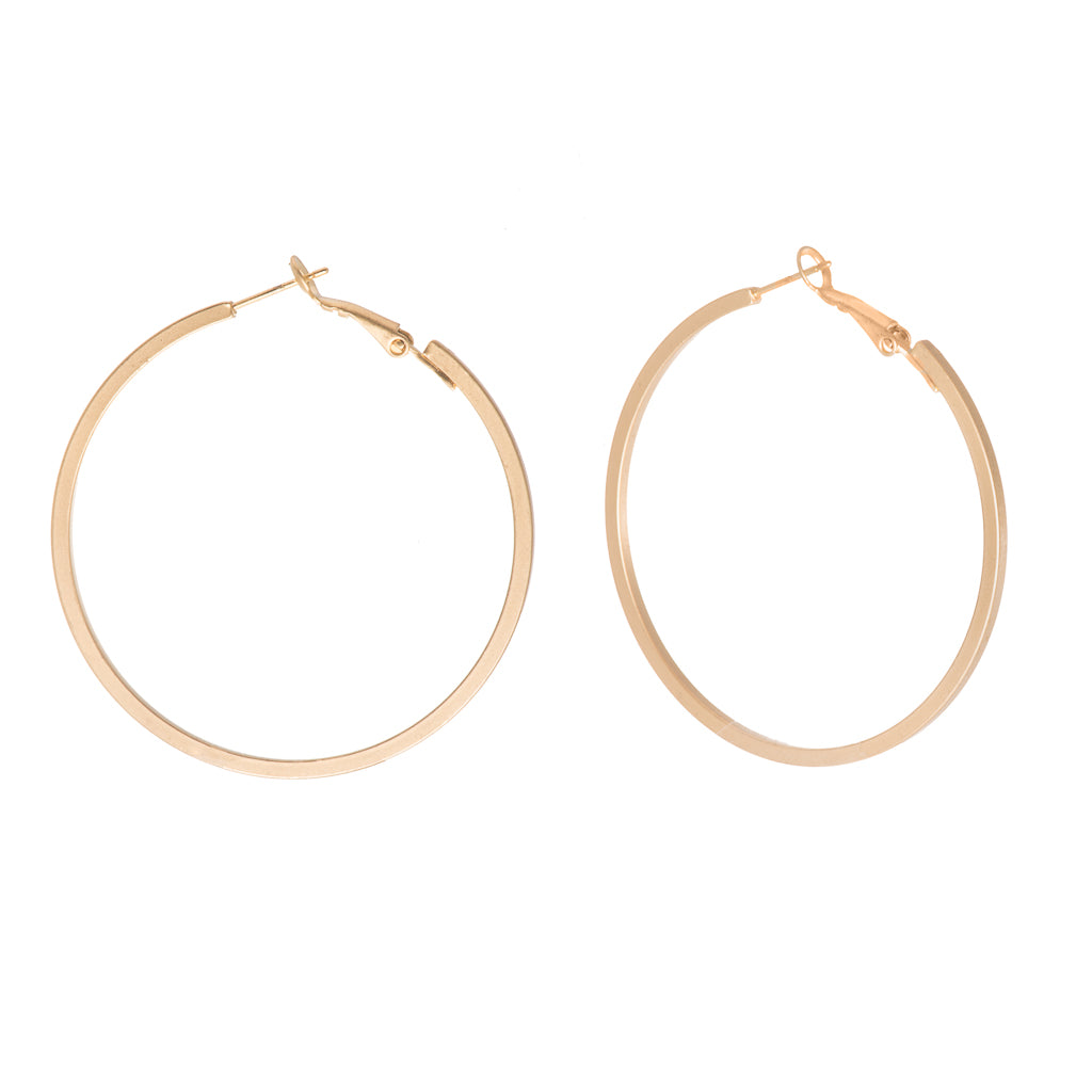 Matteos Gold Hoop Earrings - Aldina Collection