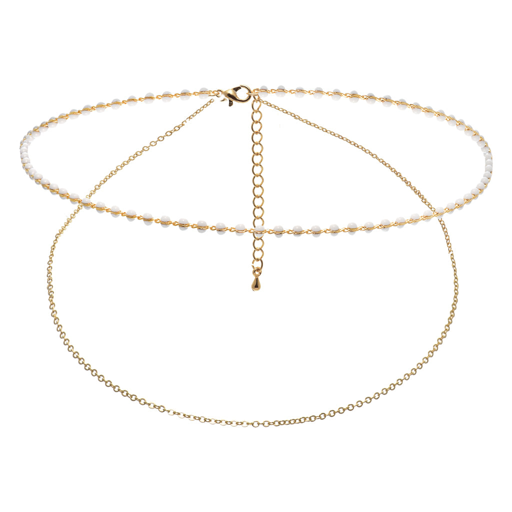 Huxley Double White Choker - Aldina Collection