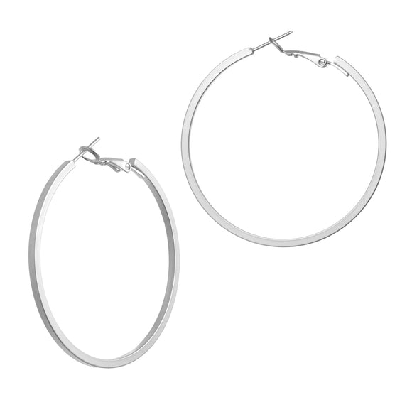 Matteos Silver Hoop Earrings - Aldina Collection