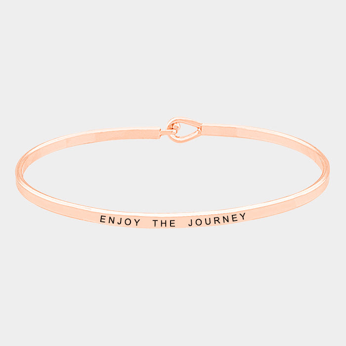 Enjoy The Journey Mantra Bracelet Rose Gold