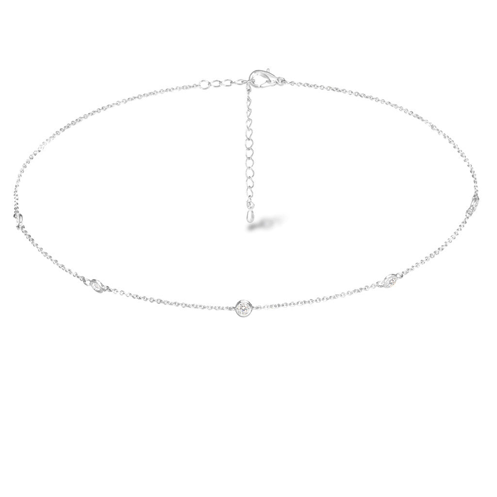 Starlet Silver Choker - Aldina Collection