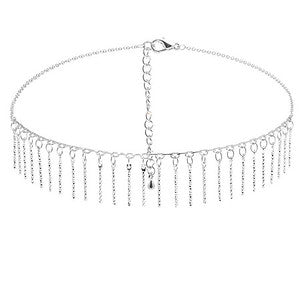 Candelabra Silver Choker - Aldina Collection