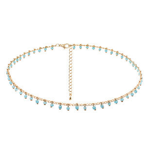 Mantra Azul Gold Choker - Aldina Collection